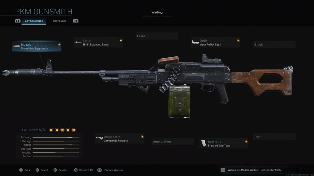 Top 10 Weapons in Call of Duty: Modern Warfare (2019) PKM
