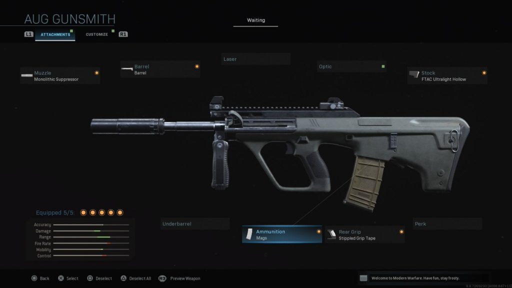 Top 10 Weapons in Call of Duty: Modern Warfare (2019) AUG