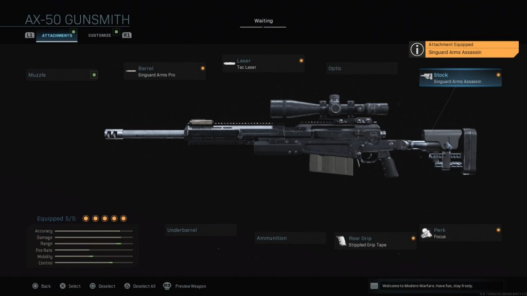 Top 10 Weapons in Call of Duty: Modern Warfare (2019) AX-50