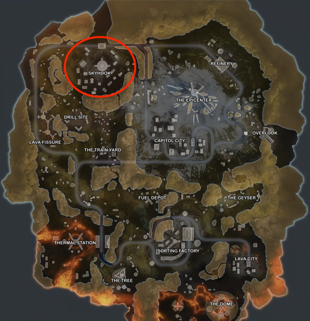 Top 10 Places To Land In Apex Legends' World's Edge Map - Skyhook