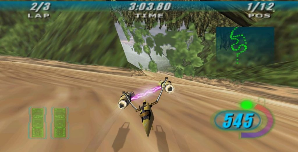 Top 10 Star Wars Games Where You're Not a Jedi - Star Wars Episode I: Racer