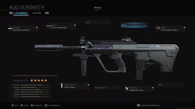 Top 10 Loadout Weapons In Call of Duty: Warzone - AUG