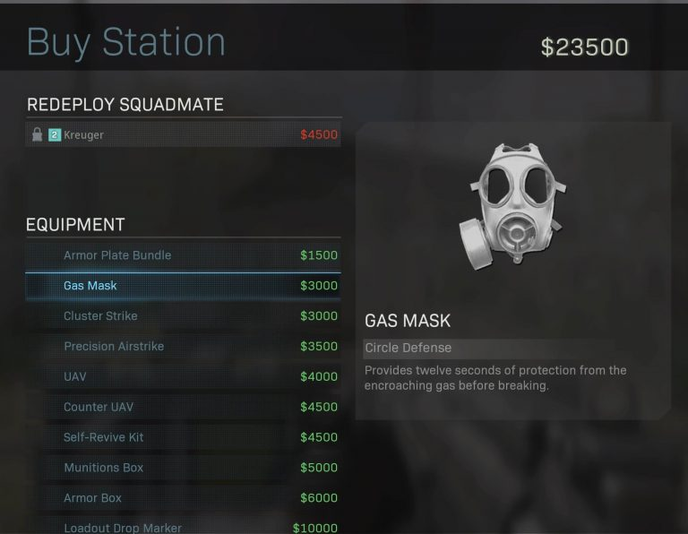 Top 10 Best Items to Buy at Supply Stations in Call of Duty Warzone (Ranked) - Gas Mask